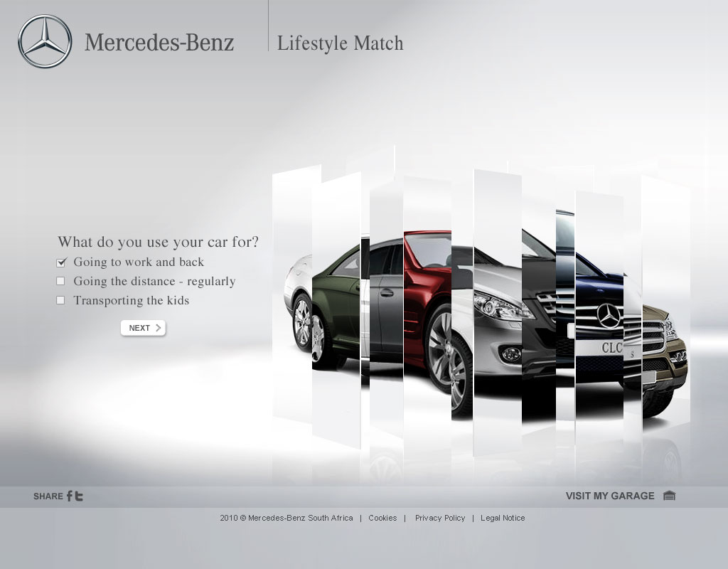 Werner fourie 39 s portfolio web design mercedes benz for Mercedes benz lifestyle